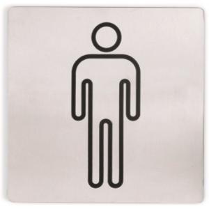 Opastekyltti miehet 13x13cm